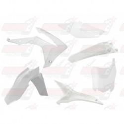 Kit plastique 6 pièces R'Tech blanc pour Honda CRF 250 (2014-2017) et CRF 450 (2013-2016)