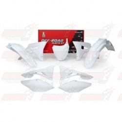 Kit plastique 6 pièces R'Tech blanc pour Honda CRF 450 (2017)