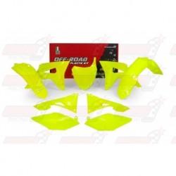 Kit plastique 6 pièces R'Tech jaune fluo pour Honda CRF 450 (2017)