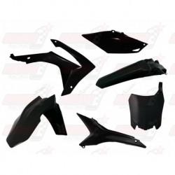 Kit plastique 6 pièces R'Tech noir pour Honda CRF 250 (2014-2017) et CRF 450 (2013-2016)