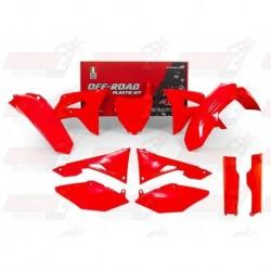 Kit plastique 7 pièces R'Tech rouge fluo pour Honda CRF 250 (2018) et CRF 450 (2017-2018)