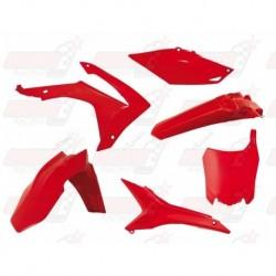 Kit plastique 6 pièces R'Tech rouge CRF pour CRF 250 (2014-2017) et CRF 450 (2013-2016)