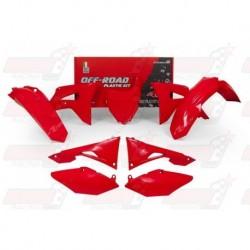 Kit plastique 6 pièces R'Tech rouge CRF pour Honda CRF 450 (2017)