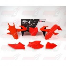 Kit plastique 6 pièces R'Tech orange fluo pour KTM (2017)