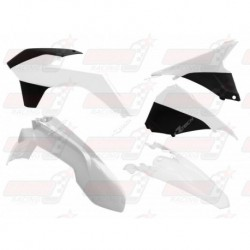 Kit plastique 5 pièces R'Tech blanc/noir pour KTM EXC/EXCF 125-200-250-350-450-500 (2014-2016)