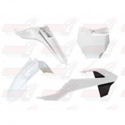 Kit plastique 4 pièces R'Tech blanc pour KTM SX 65 (2016-2017)
