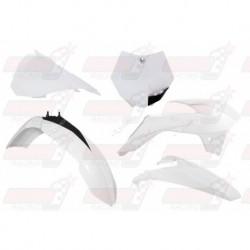 Kit plastique 5 pièces R'Tech blanc pour KTM SX 85 (2013-2017)