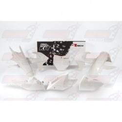 Kit plastique 6 pièces R'Tech blanc/noir pour KTM (2016-2017)