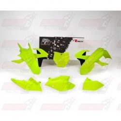 Kit plastique 6 pièces R'Tech jaune fluo pour KTM (2016-2017)