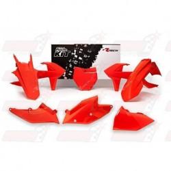 Kit plastique 6 pièces R'Tech orange pour KTM (2016-2017)