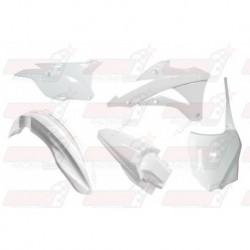 Kit plastique 5 pièces R'Tech blanc pour Kawasaki KX 85-100 (2014-2017)