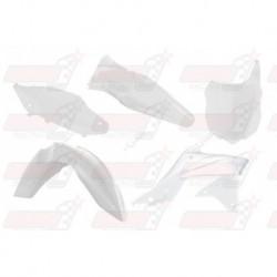 Kit plastique 5 pièces R'Tech blanc pour Kawasaki KXF 250 (2013-2016)