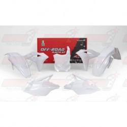 Kit plastique 5 pièces R'Tech blanc pour Kawasaki KXF 250 (2017)
