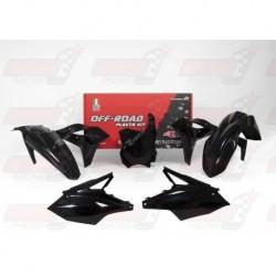 Kit plastique 5 pièces R'Tech noir pour Kawasaki KXF 250 (2017)