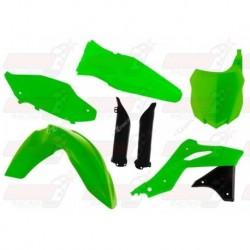 Kit plastique 5 pièces R'Tech vert fluo pour Kawasaki KXF 250 (2013-2016)