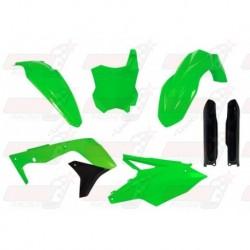 Kit plastique 6 pièces R'Tech vert fluo pour Kawasaki KXF 450 (2016-2017)
