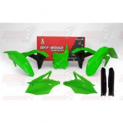 Kit plastique 6 pièces R'Tech vert fluo pour Kawasaki KXF 250 (2017)