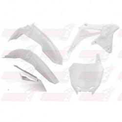 Kit plastique 5 pièces R'Tech blanc pour Suzuki RMZ 450 (2008-2017)