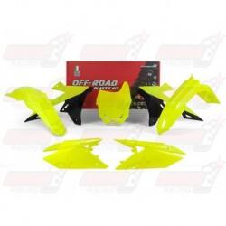 Kit plastique 5 pièces R'Tech jaune fluo pour Suzuki RMZ 450 (2018)