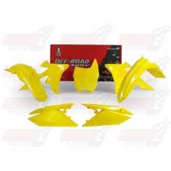 Kit plastique 5 pièces R'Tech jaune RMZ pour Suzuki RMZ 450 (2018)