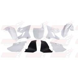 Kit plastique 6 pièces R'Tech blanc / noir pour Yamaha YZ 125/250 (2002-2017)