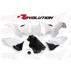 Kit plastique R'Tech Revolution YZ blanc/noir pour Yamaha YZ 125-250 (2002-2017) / WR 250 (2016-2017)