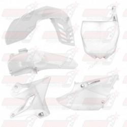 Kit plastique 5 pièces R'Tech blanc pour Yamaha YZ 125/250 (2015-2017) WR/YZX 250 (2016-2017)