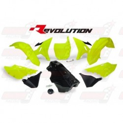 Kit plastique R'Tech Revolution YZ jaune fluo/noir pour Yamaha YZ 125-250 (2002-2017) / WR 250 (2016-2017)