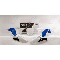 Kit plastique 5 pièces R'Tech bleu/blanc pour Yamaha YZF 250/450 (2014-2017) YZ/FX 250 (2015-2017) YZ/FX 450 (2016-2017)