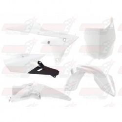 Kit plastique 5 pièces R'Tech blanc/noir pour Yamaha YZF 250/450 (2014-2017) YZ/FX 250 (2015-2017) YZ/FX 450 (2016-2017)