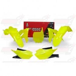 Kit plastique 5 pièces R'Tech jaune fluo pour Yamaha YZF 450 (2018)