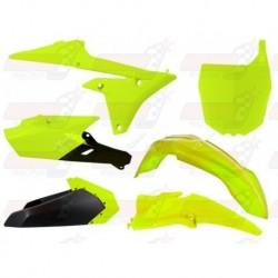 Kit plastique 5 pièces R'Tech jaune fluo pour Yamaha YZF 250/450 (2014-2017) YZ/FX 250 (2015-2017) YZ/FX 450 (2016-2017)