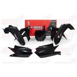 Kit plastique 5 pièces R'Tech noir pour Yamaha YZF 450 (2018)