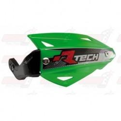 Protège-mains R'Tech Vertigo ATV couleur vert KXF avec kit montage