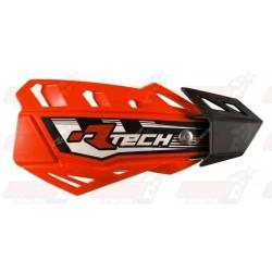 Protège-mains R'Tech FLX couleur orange fluo avec kit montage