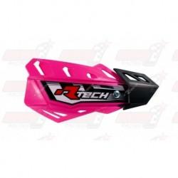 Protège-mains R'Tech FLX couleur rose fluo avec kit montage