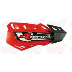 Protège-mains R'Tech FLX couleur rouge CRF avec kit montage