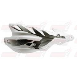 Protège-mains R'Tech Raptor couleur blanc avec kit montage