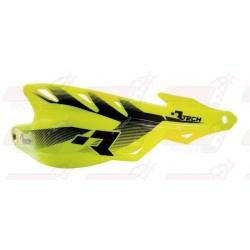 Protège-mains R'Tech Raptor couleur jaune fluo avec kit montage