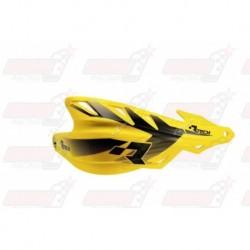 Protège-mains R'Tech Raptor couleur jaune RMZ avec kit montage
