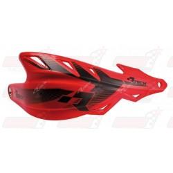 Protège-mains R'Tech Raptor couleur rouge CRF avec kit montage