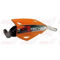 Protège-mains R'Tech Vertigo couleur orange K avec kit montage alu