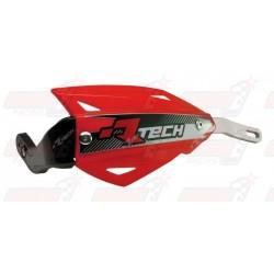 Protège-mains R'Tech Vertigo couleur rouge CRF avec kit montage alu