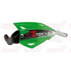 Protège-mains R'Tech Vertigo couleur vert KXF avec kit montage alu