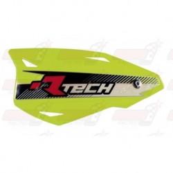 Protège-mains R'Tech Vertigo couleur jaune fluo avec kit montage