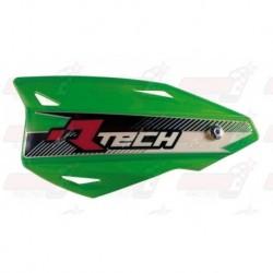 Protège-mains R'Tech Vertigo couleur vert KXF avec kit montage