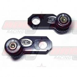 Pions de bras oscillant avec platine R&G Racing pour Triumph  675 Street Triple (2007-2012)