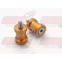 Pions de bras oscillant R&G Racing M10 couleur Or