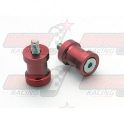 Pions de bras oscillant R&G Racing M10 couleur Rouge