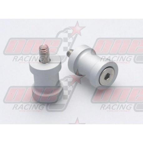 Pions de bras oscillant R&G Racing M10 couleur Argent